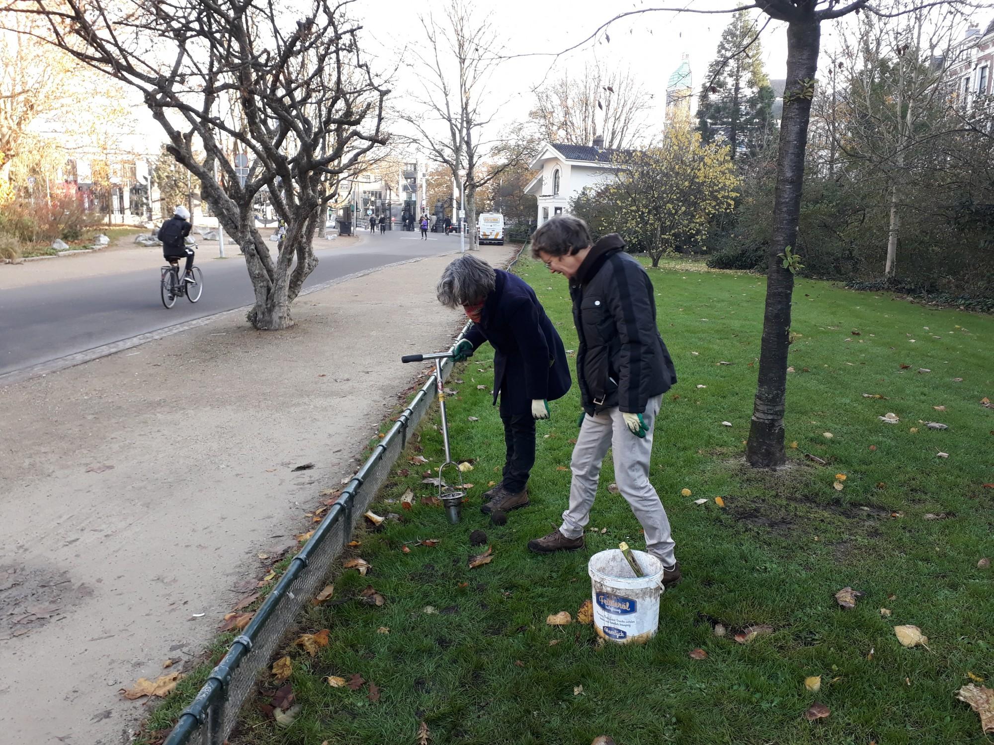 Vrijwilligers in het Vondelpark